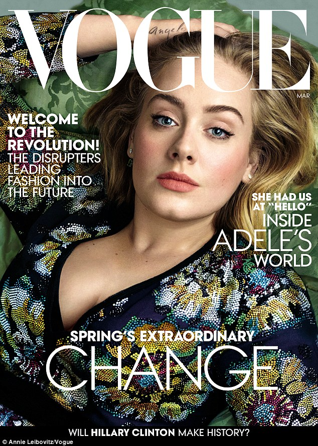 Adele is gorgeous for Vogue US March 2016