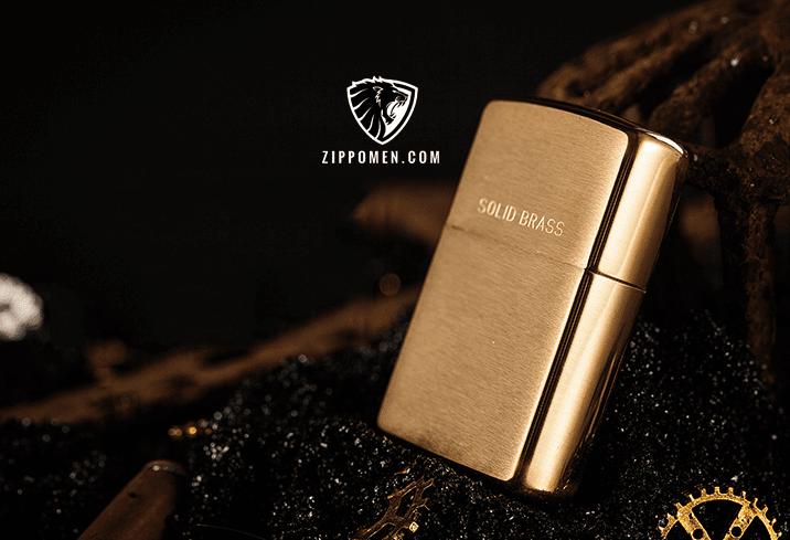 Zippo vàng nhám solibrass - MS 240B | zippo | zippo chính hãng