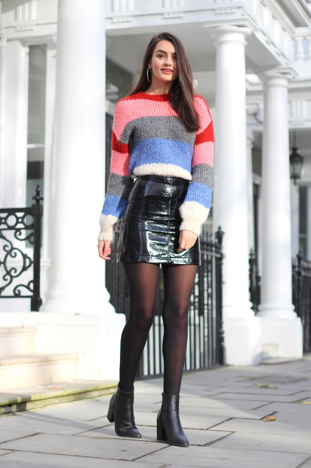 fashion blog london peexo personal style stripes vinyl