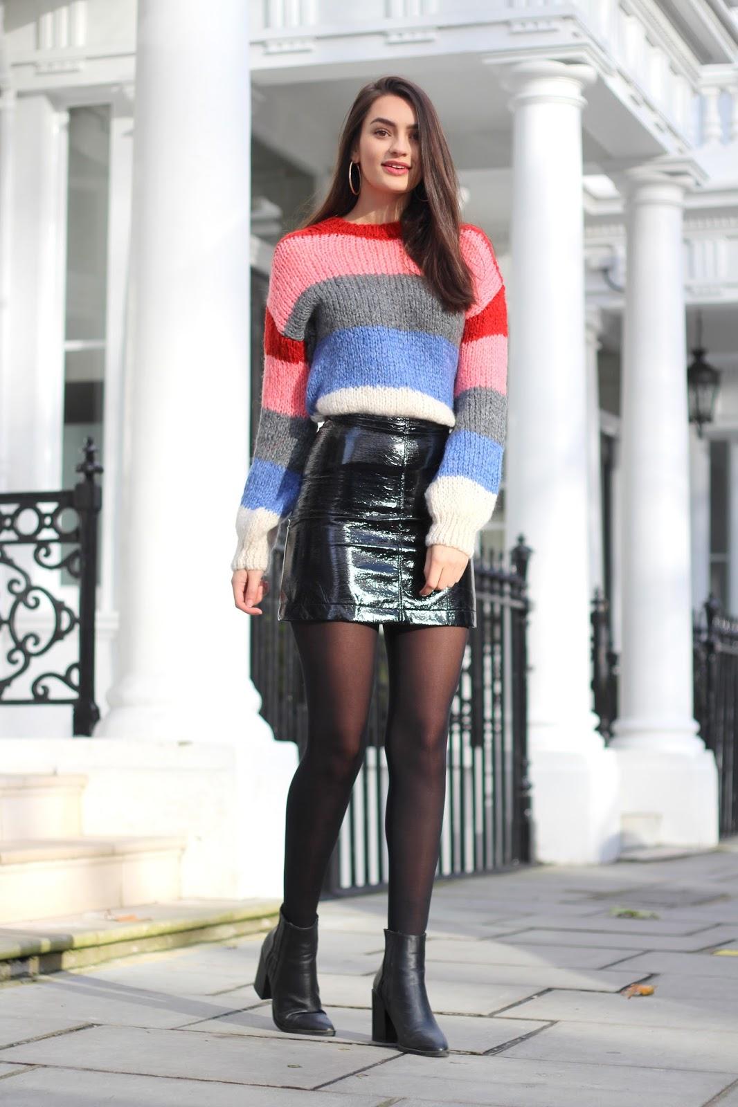 fashion blog london peexo personal style stripes vinyl