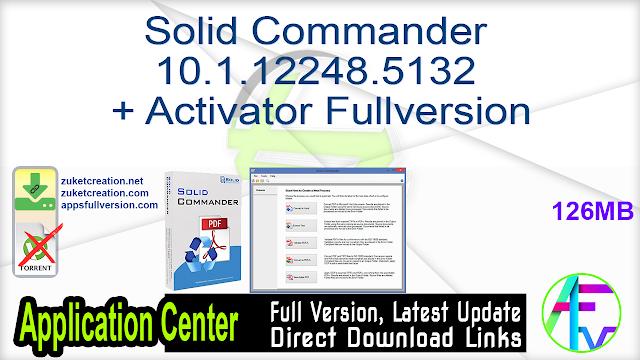 Solid Commander 10.1.12248.5132 + Activator Fullversion