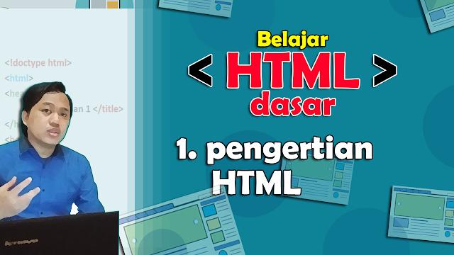Pengertian dan Sejarah tentang HTML