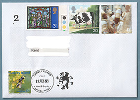 Example of mail carried by Canvey Island Local Post