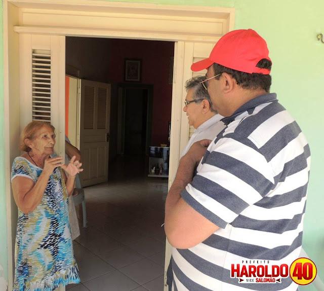 Candidato a reeleição, prefeito Haroldo Ferreira segue cumprindo agenda de visitas na Zona Urbana de Felipe Guerra