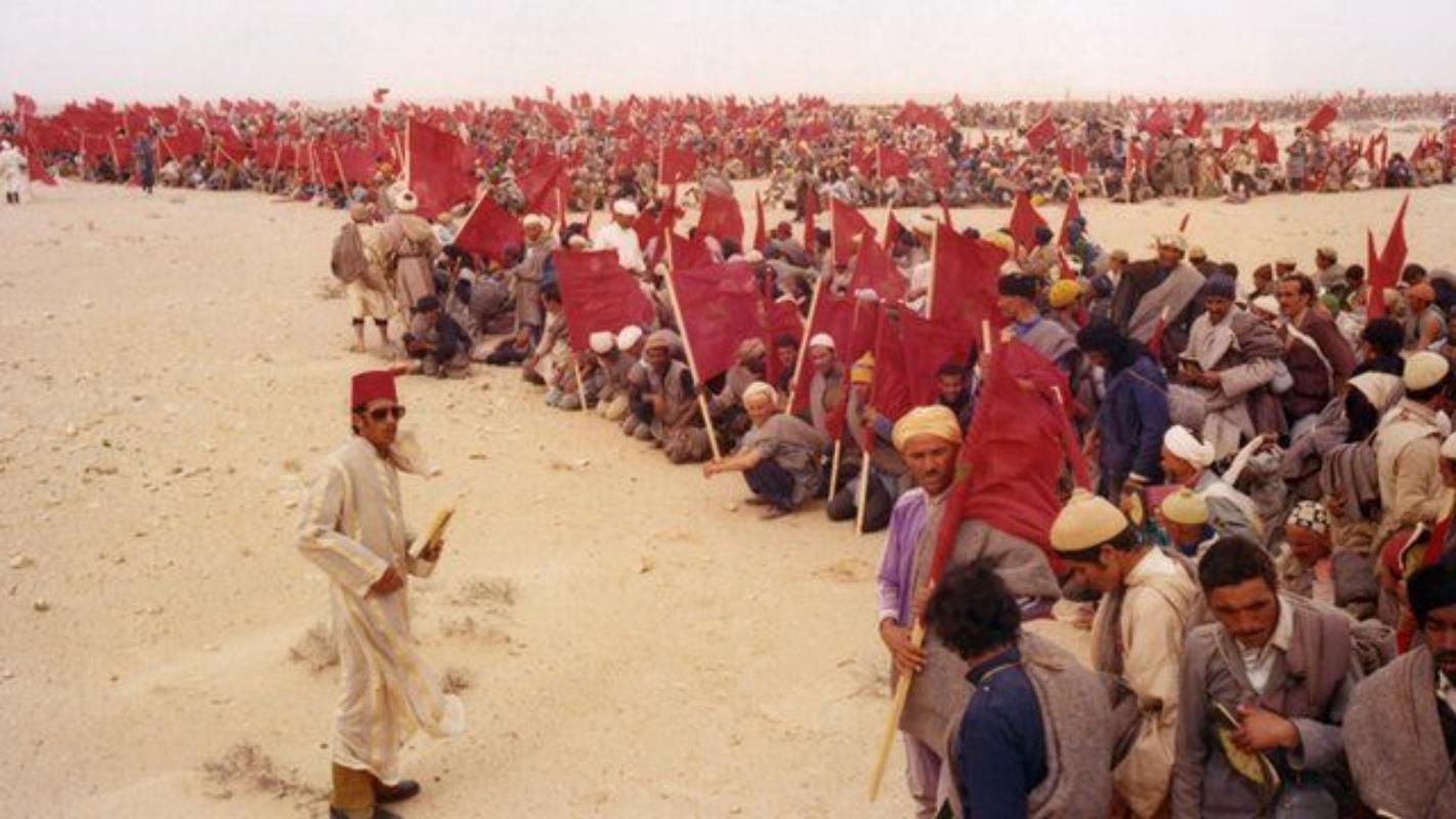 Fotografía de la Marcha Verde sobre el Sáhara Occidental