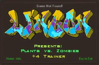Download Plant vs Zombie +4 Trainer terbaru gratis for PC + cheat