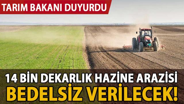 Bedelsiz arazi