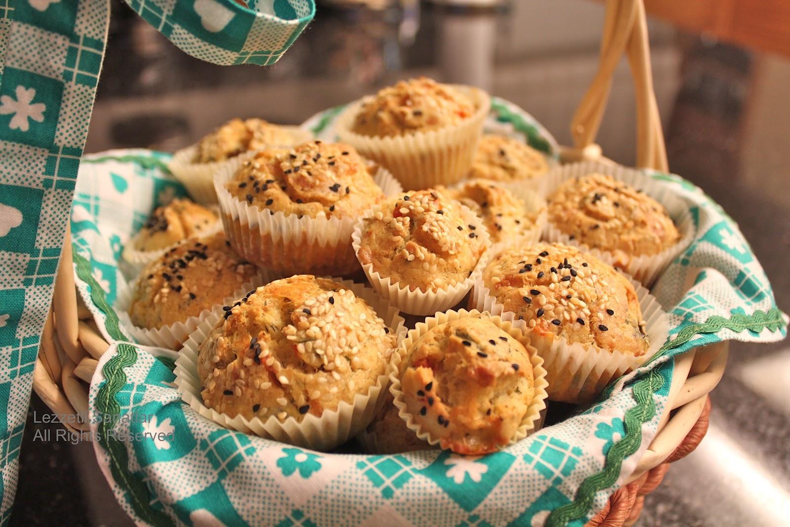 Pancarlı Tuzlu Muffin