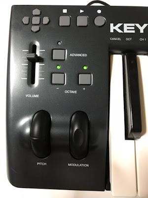 M-AUDIOキーボードコントローラー部分写真