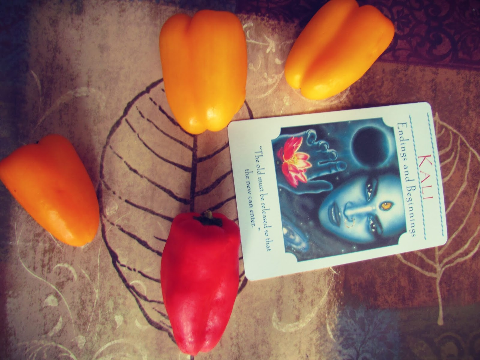 The Goddess Kali Endings and New Beginnings Card + Sweet Peppers