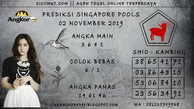 PREDIKSI SINGAPORE POOLS 02 NOVEMBER 2019
