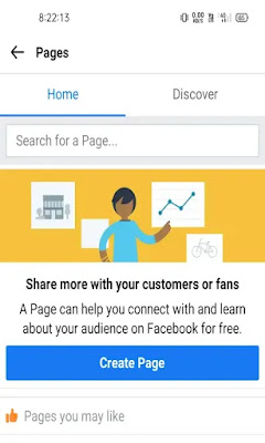 Create facebok page