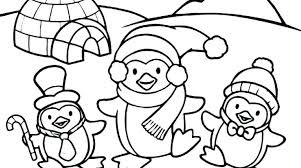 Adorable Penguis Coloring Sheet