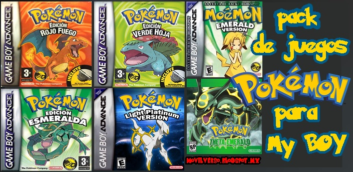 Pack 1 Juegos De Pokemon Para Emulador My Boy Roms Game Boy Advance