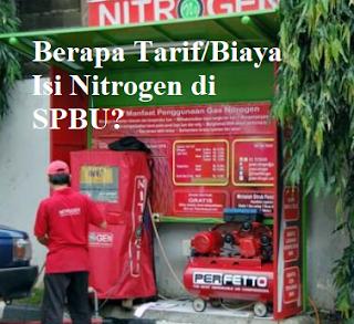 Ini Biaya / Tarif Isi Angin Nitrogen di Pom Bensin / SPBU untuk Motor