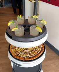 Pizzeria employs robot server to bring food to tables