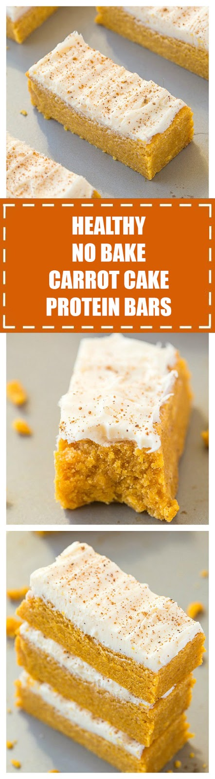 Healthy No Bake Carrot Cake Protein Bars