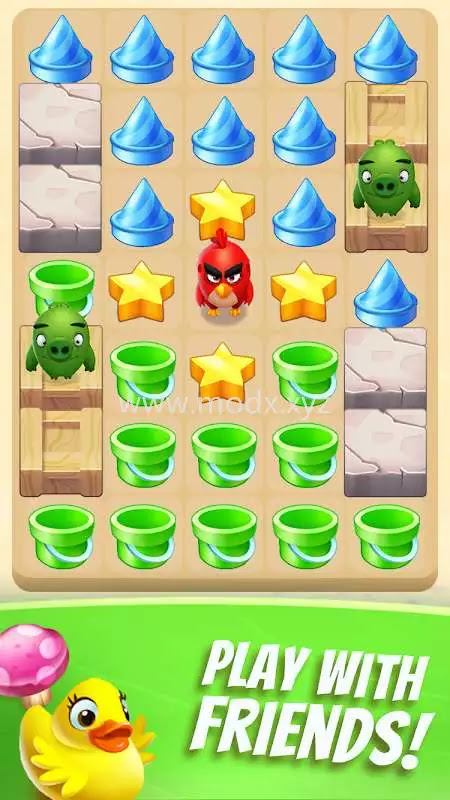 Angry Birds Match 3 (MOD, Money/Lives/Boosters)