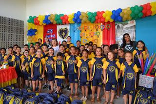 LBV beneficia estudantes na Paraíba com a doação de kits de material escolar