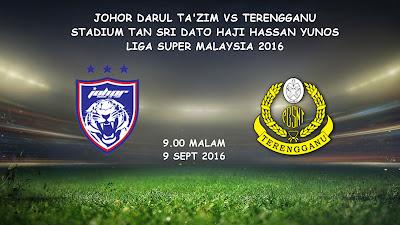 JDT Vs Terengganu 9 Sept 2016