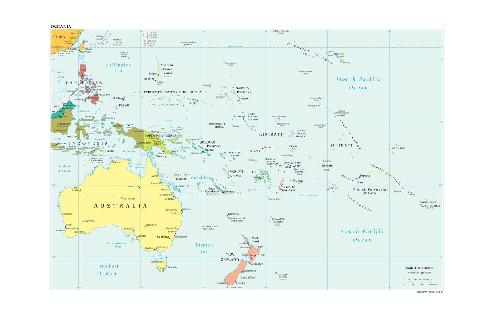 Karte Australien Englisch.Politische Landkarte Von Australien Und Ozeanien Englisch
