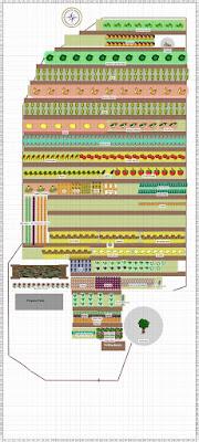 row-based garden plan