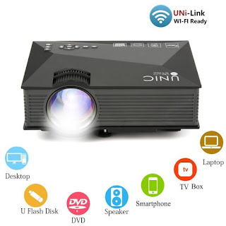 LED Proyektor UNIC UC46 Mini Portable Projector Wifi 1200 Lumens Sisa Stok