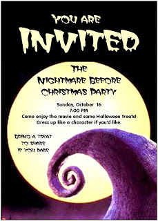nightmare before christmas printable invitations