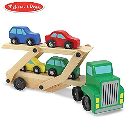 Melissa & Doug Car Carrier Truck and Cars Wooden To