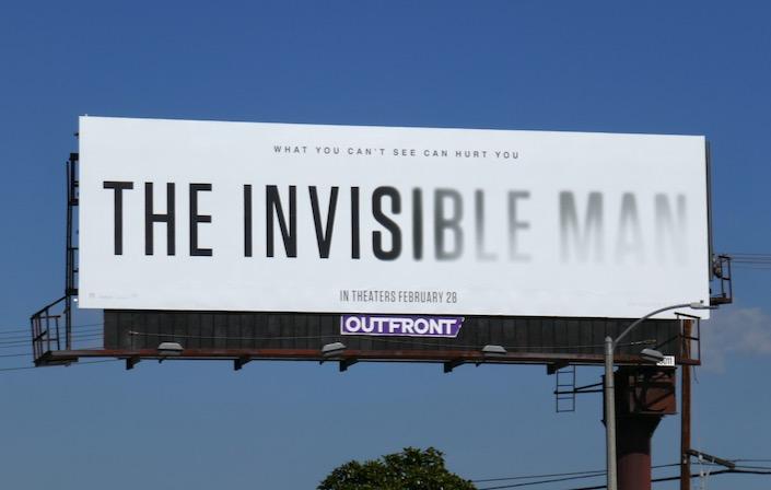 The Invisible Man 2020 movie billboard