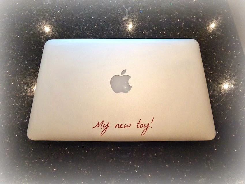 Morgan's Milieu | Thank You: My new toy, a Macbook Air.