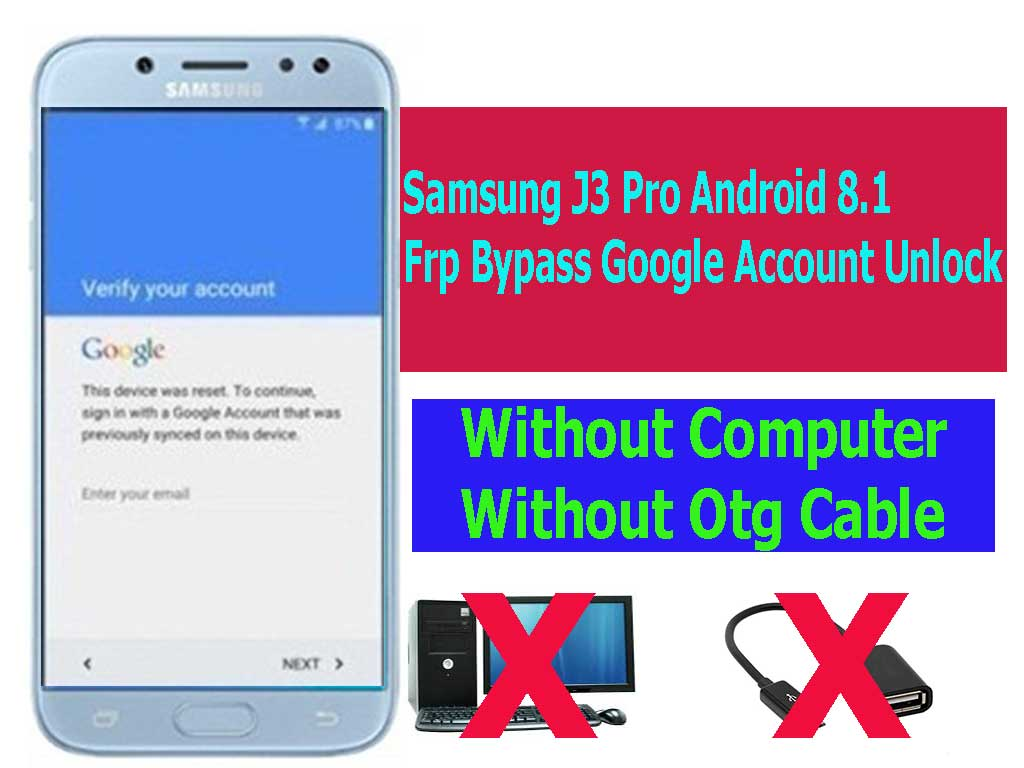 Samsung J3 Pro Android 8 1 Frp Bypass Google Account Unlock