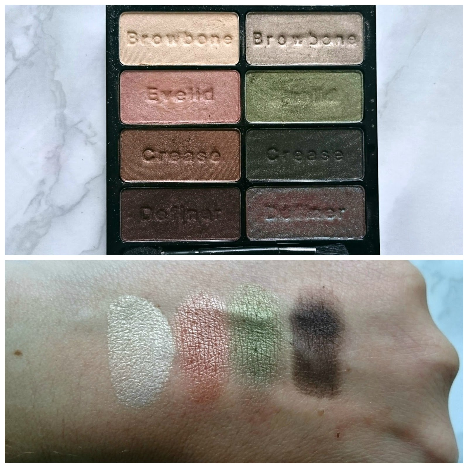 Wet n Wild Comfort Zone palette makeup look