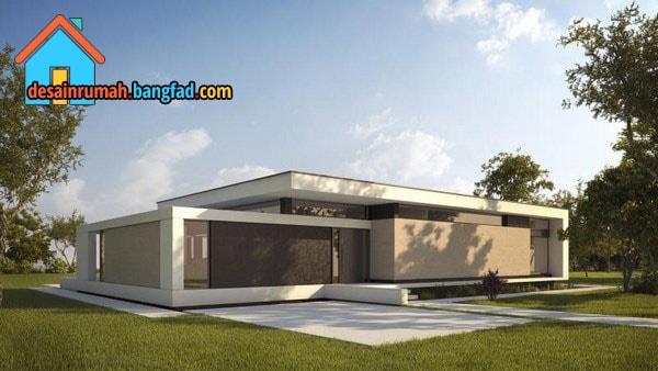 Desain Rumah Minimalis Dengan Atap Datar Desain Rumah Minimalis Moderen