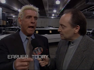 WCW Sin 2001 Review - Mike Tenay interviews Nature Boy Ric Flair as he arrives at the arena