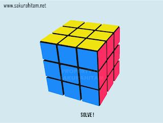 rubik 3x3 gambar vektor