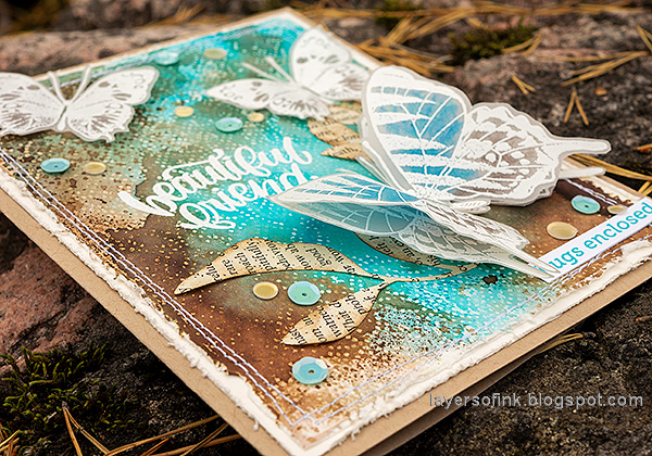 Layers of ink - Wax Paper Resist Video Tutorial by Anna-Karin Evaldsson.