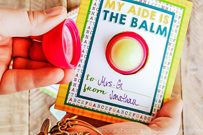 graphic regarding You're the Balm Teacher Free Printable named Totally free EOS Lip Balm Trainer Appreciation Printables i need to