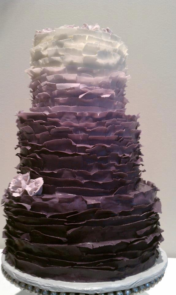 wedding cakes pictures purple ombre wedding cake. Black Bedroom Furniture Sets. Home Design Ideas