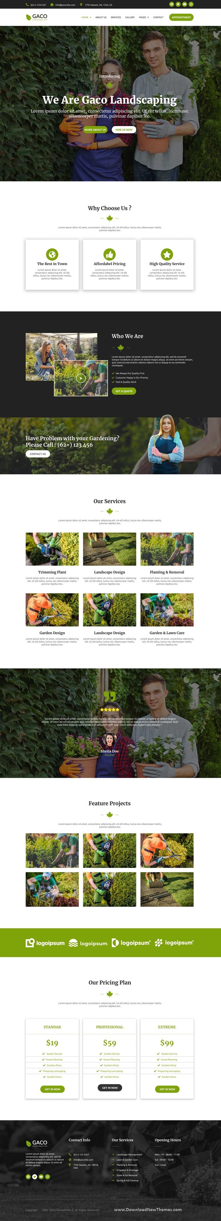 Landscape & Gardening Figma Template