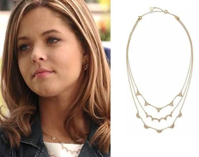 "Sasha Pieterse ""Ali"" of PLL in Stella & Dot Pave Chevron Necklace"
