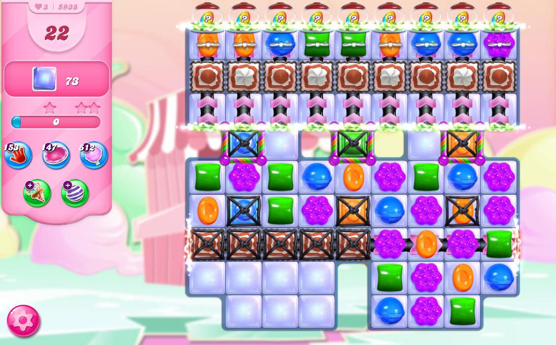 Candy Crush Saga level 5938