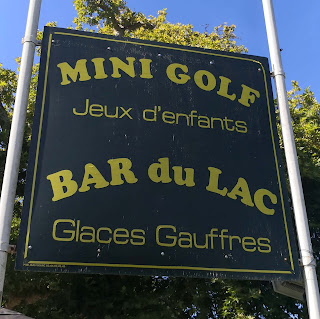Le Mini Golf at Bar du Lac in Pierrefonds, France. Photo by Christopher Gottfried 26/08/19