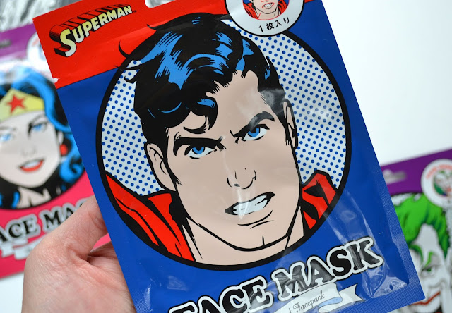 Sheet Mask DC Comics Wonder Woman, Superman and The Joker