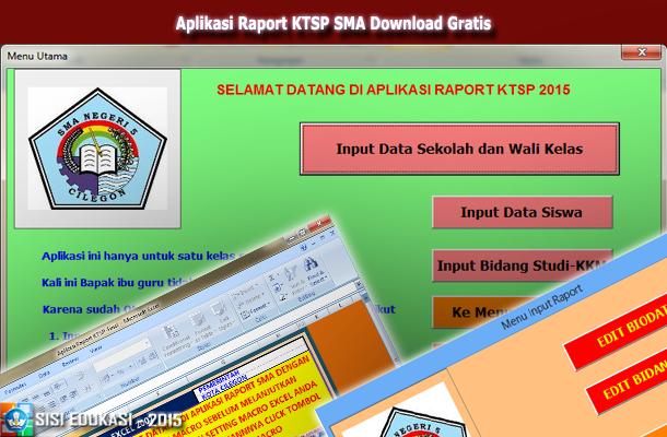 Aplikasi Raport KTSP SMA dengan Microsoft Excel Download Gratis