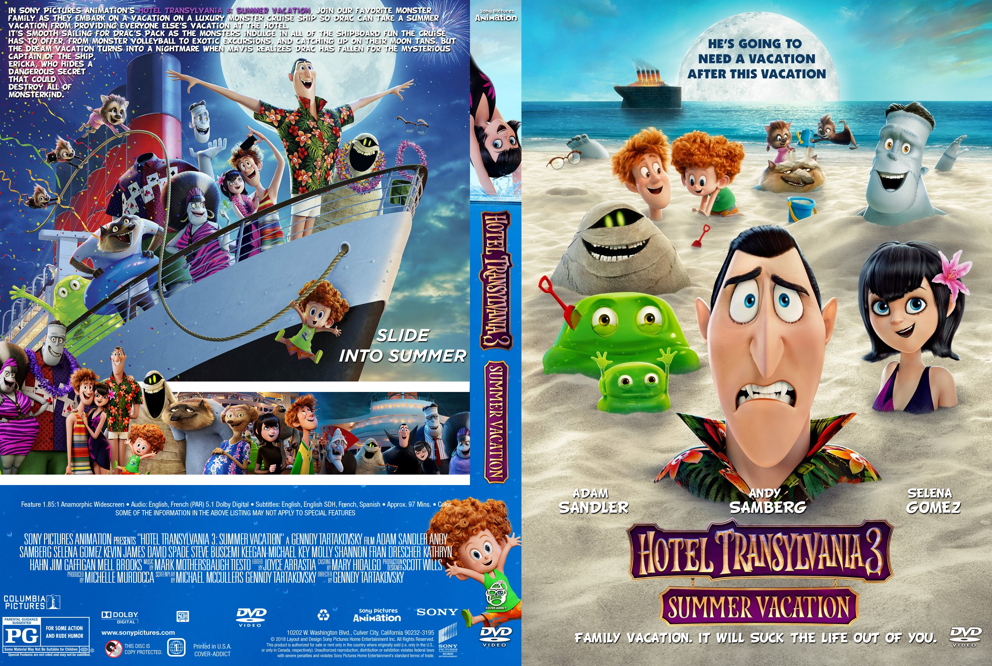 Hotel Transylvania 3 Summer Vacation DVD Cover