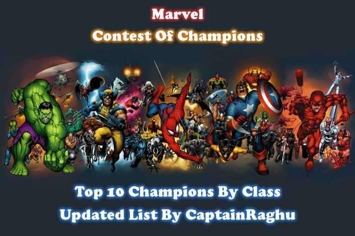 MCOC Top 10 Champions By Class September 2019 Updated List