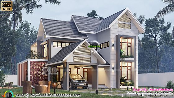 Fusion model house rendering side view