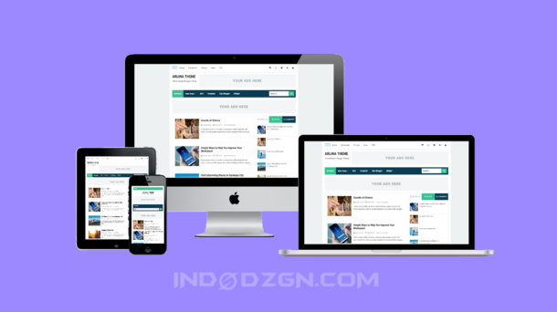 Arlina Theme Premium Blogger Template