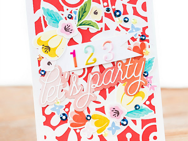 Let's Party - Pinkfresh Studio + WPlus9 | Summertime Cards